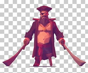 Low Poly Character Concept Art Model Sheet Illustration PNG