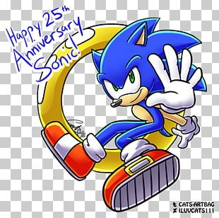 Anniversary Birthday Sonic Mania Drawing Fan Art PNG