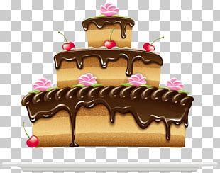 Ice Cream Pâtisserie Chocolate Cake Sachertorte PNG
