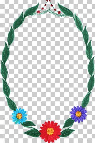 Flower Frames Oval PNG