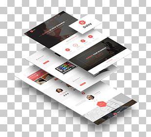Landing Page Mockup Web Page Advertising PNG