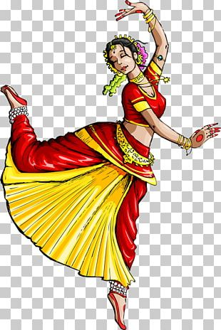 Dance In India Indian Classical Dance Drawing PNG