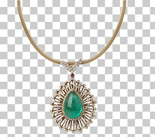 Necklace Emerald Gemstone Jewellery PNG