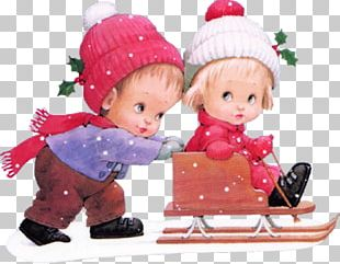 Christmas Snow Child PNG