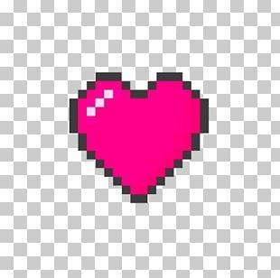 T-shirt Heart Pixel Art 8-bit Color PNG