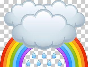 Cartoon Rain Cloud PNG