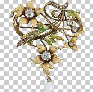 Jewellery Brooch Gemstone Art Nouveau Diamond PNG