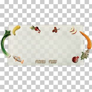 Tray Rectangle Glass Platter Rosh Hashanah PNG