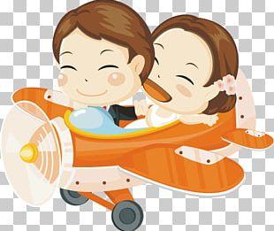 Airplane Cartoon Illustration PNG