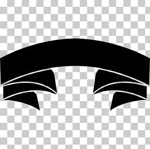Black Ribbon Banner Shape PNG