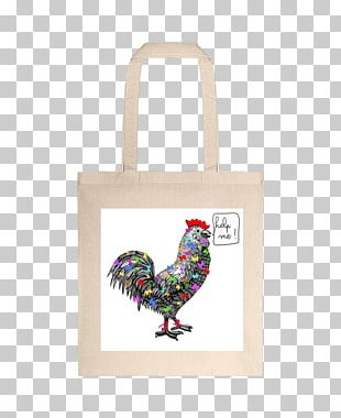 Rooster Tote Bag Chicken As Food Font PNG
