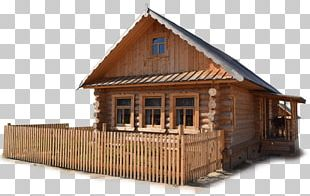 Izba Log Cabin House Shed Russian PNG