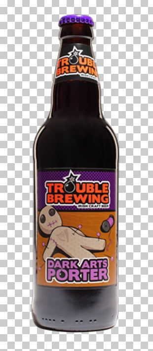 Beer Bottle Porter Trouble Brewing Beer Brewing Grains & Malts PNG