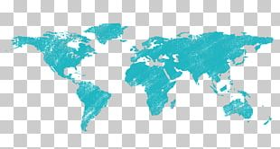 World Map Wall Decal PNG