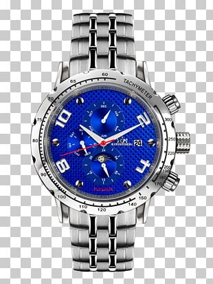 Automatic Watch Steel Blue Clock PNG