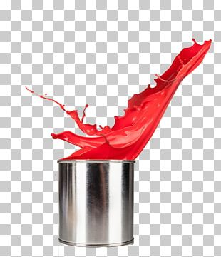Drip Painting Red Aerosol Paint PNG