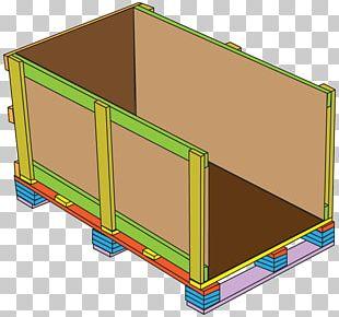 Wooden Box Crate Cargo Corrugated Fiberboard PNG