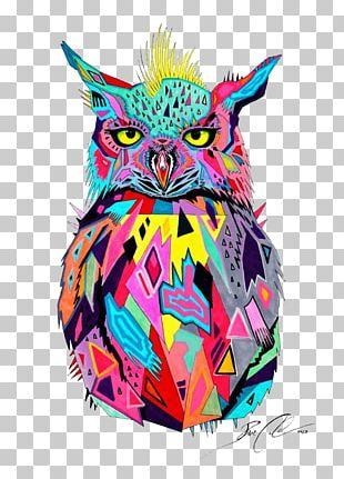 Owl Painting Abstract Art PNG
