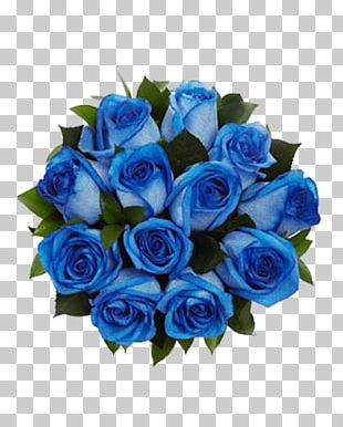 Blue Rose Flower Bouquet Cut Flowers PNG