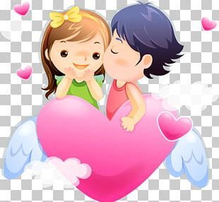 Love Cartoon Couple Drawing PNG