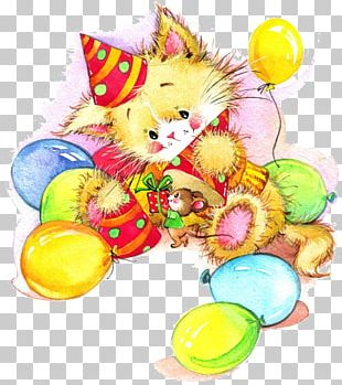 Birthday Gift Greeting Card Illustration PNG