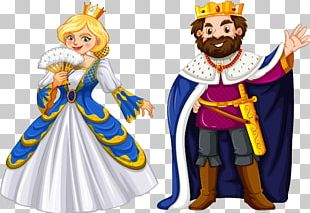 King Cartoon Queen Regnant Illustration PNG