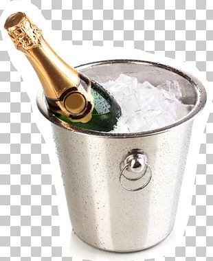 Champagne Wine Bottle Bucket Alcoholic Drink PNG