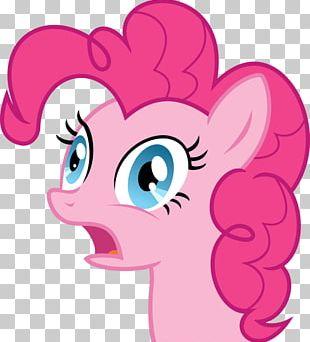 Pinkie Pie Smile Cupcake PNG