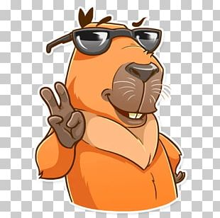 Capybara Dog Sticker Telegram PNG