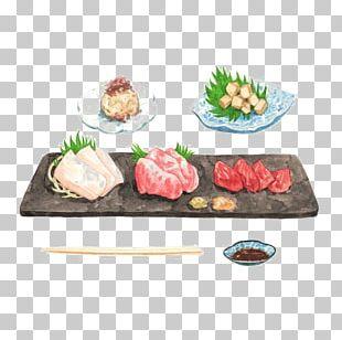 Japanese Cuisine Sushi Sashimi Illustration PNG