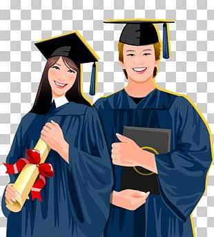 Student Graduation Ceremony Academic Dress Stock Illustration PNG