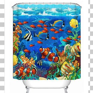 Coral Reef Fish Underwater Painting PNG