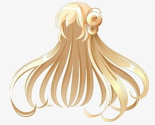 Anime Girl With Long Hair PNG