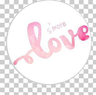 Magenta Pink M Heart Font PNG