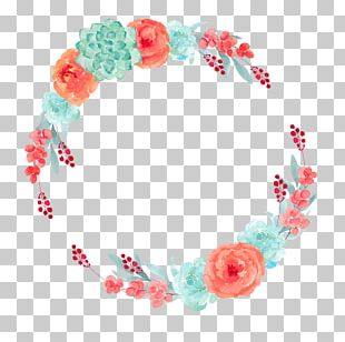 Flower Floral Design Wreath Watercolor Painting Paper PNG