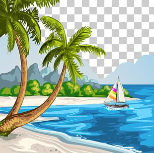 Drawing Beach Theatrical Scenery Illustration PNG