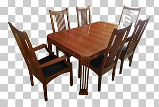 Table Mission Style Furniture Chair Dining Room Matbord PNG