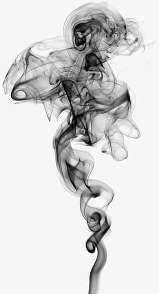 Black Shrouded Smoke PNG