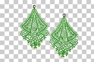 Earring Body Jewellery Christmas Ornament Emerald PNG