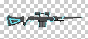 Sniper Rifle Firearm Assault Rifle Machine Gun Pixel Art PNG