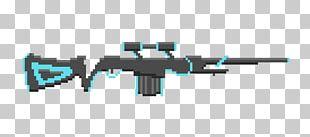 Sniper Rifle Firearm Assault Rifle Machine Gun Pixel Art PNG