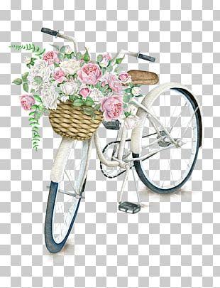 Bicycle Basket Napkin Flower Vintage Clothing PNG