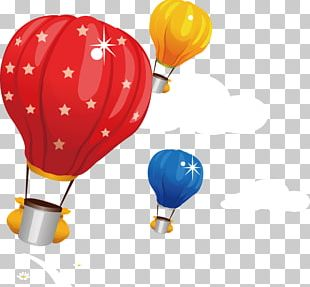 Hot Air Balloon Blue PNG