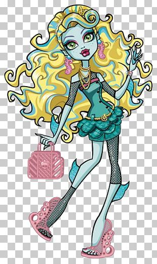 Lagoona Blue Monster High Frankie Stein Doll PNG