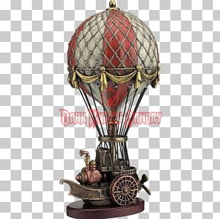Hot Air Balloon Steampunk Airship Statue PNG
