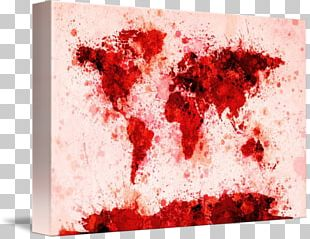 Canvas Print Painting World Map Art PNG