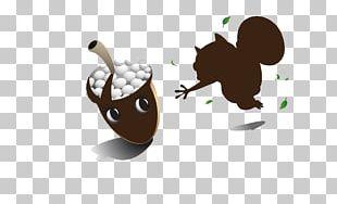 Cat Squirrel Cartoon Illustration PNG