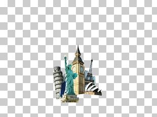 Statue Of Liberty Eiffel Tower World Landmark PNG