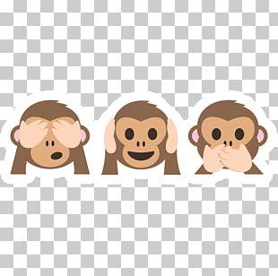 Sticker Three Wise Monkeys Emoji PNG
