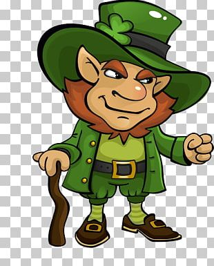 Saint Patrick's Day Leprechaun Treasure Clover PNG